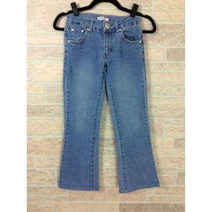 Levis Youth Girls Boot Cut Jeans Blue Denim Pants